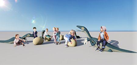 浮洲-恐龙雕塑模拟图.