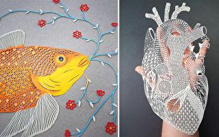 組圖:藝術家精湛刀法下的剪紙藝 好美