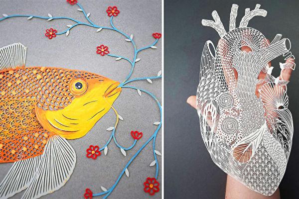 组图:艺术家精湛刀法下的剪纸艺 好美
