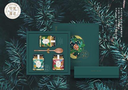 2021台中文创选品,坚果酱君工作室全天然坚果酱伴手礼盒。