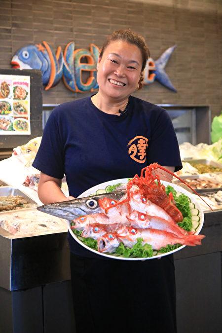 阿達海產店第二代傳人劉蓉諭,在家傳美味之外,研發創新料理,成功打響阿達品牌口碑。