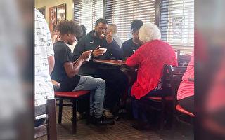 喬治亞少年兄弟們陪孤獨老人共進午餐