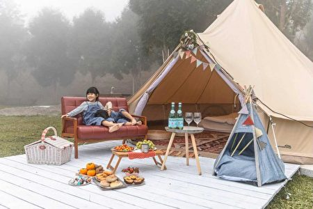 豪华露营。