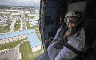 美海軍遺孀如願搭乘直升機 慶祝百歲誕辰