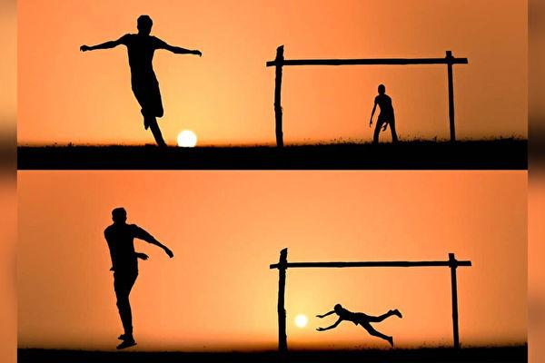 組圖:攝影師巧用夕陽美景講述動人故事