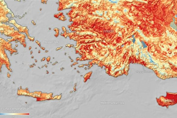 熱浪襲地中海 地表溫度再度飆破50℃