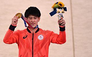 组图:东奥体操单杠 日本桥本大辉夺得金牌