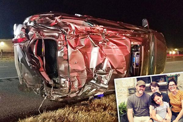 感恩神 德州一家人遭遇嚴重車禍奇蹟生還