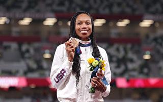 美國女飛人400米跑摘銅 獲第10枚奧運獎牌