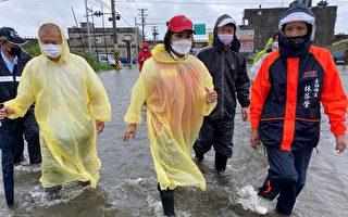 西南氣流豪雨 雲林沿海地區嚴重淹水