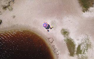 巴西独特的湖泊 颜色如可口可乐