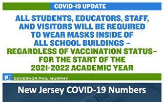新泽西室内要戴口罩 无论是否打过疫苗