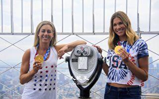 美沙灘排球金牌女將凱旋 分享得獎喜悅