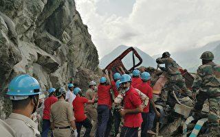 印度北部山體滑坡 十人死亡數十人被困