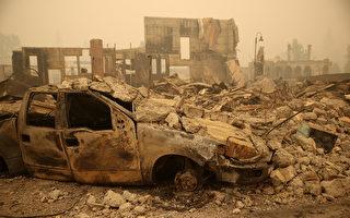 组图:加州野火再肆虐 烧毁面积逾50万英亩