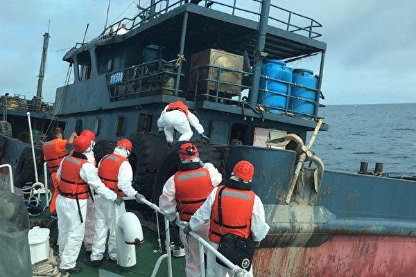 大陆油料运补船越界 台湾澎湖海巡查扣押返