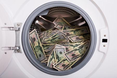 國土安全調查局特工說,販毒收益的鈔票上散發出的黴味或大麻氣味過於刺鼻,以至於毒販要用清潔劑或油來掩蓋氣味。圖為洗錢示意圖。