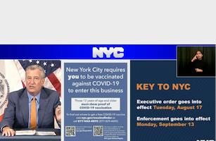 紐約市堂食要出示疫苗證明 8月17日生效