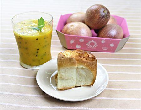 蘋果捲搭配芒果百香雪泥,果香十足的美味。