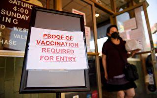 加州擬立法 限制未接種疫苗者參加室內活動