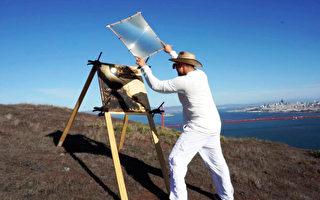 利用陽光 藝術家呈現令人難以置信的畫作