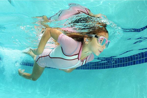 游泳前戴上專門為游泳耳設計的防水耳塞,可以預防外耳炎。(Shutterstock)