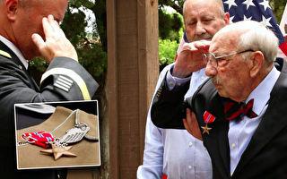 美國二戰老兵75年後正式獲得銅星勳章