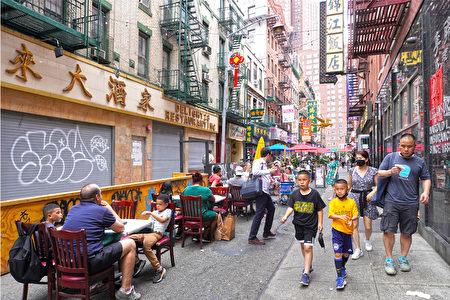 紐約市曼哈頓華埠商圈。