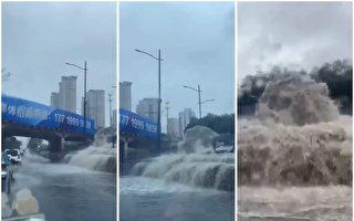 【一线采访】河南多地暴雨 郑州地铁隧道关闭