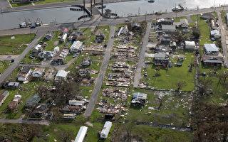 组图:艾达飓风威力惊人 路州有房屋被夷为平地