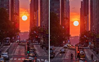 延時視頻展示「曼哈頓懸日」獨特景觀
