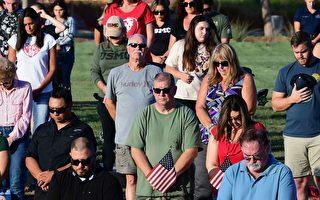 組圖:加州居民哀悼阿富汗陣亡美軍