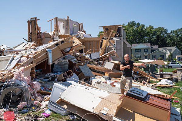 組圖:艾達風暴釀洪災 衝擊美國東北部