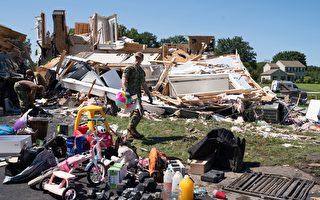 """昆士红十字会救援新泽西""""艾达""""飓风灾区"""