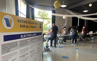 提前投票站开放首日 选民响应罢免州长选举
