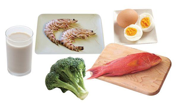 均衡摄取蔬菜、鱼、虾、牛奶、蛋含碘的食物,每日碘的摄取就会足够。(原水文化提供)