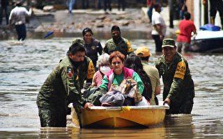 组图:墨西哥中部暴雨酿洪灾 水淹医院死17人