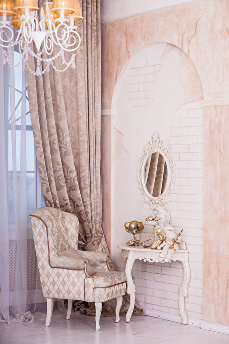 Classical,Interior,Design,Of,Living,Room,,Armchair,,Christmas,Santa,Sitting