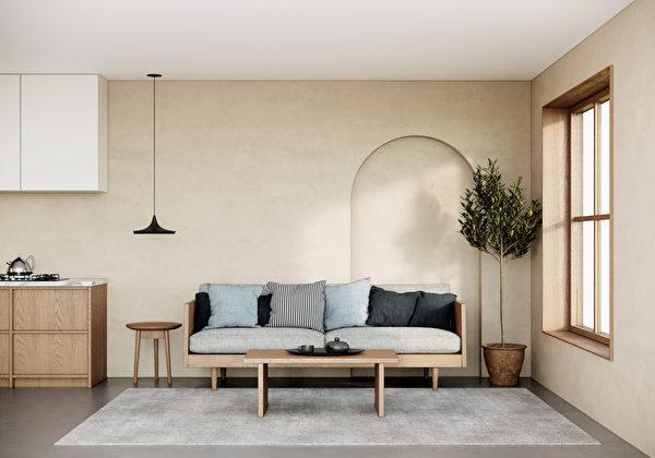 Mock,Up,Studio,Apartment,In,Modern,Scandinavian,And,Japandi,Style