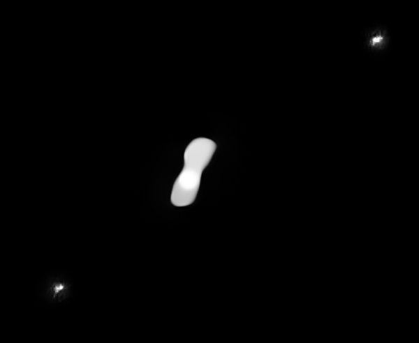 Strange dog bone-like asteroid, 270 kilometers long |  Porn Queen Star |  Very Large Telescope |  Satellite