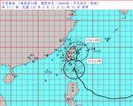 璨樹降為中颱 氣象局更新路徑