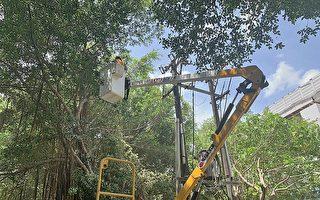 璨樹颱風來襲 台電全力防颱準備