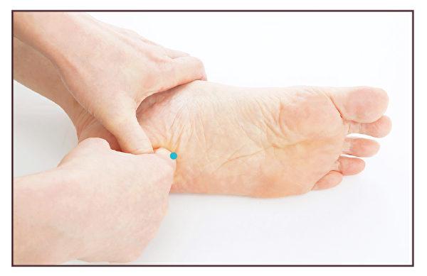 使用手指食指垂直按壓3秒之後,放鬆力道。(蘋果屋提供)