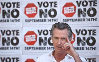 加州罢免州长选举初步统计 纽森或留任