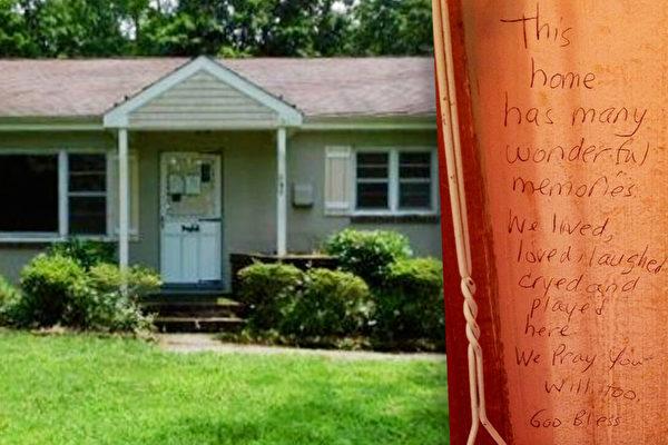 新泽西妈妈在新家墙上发现前主人的温馨留言