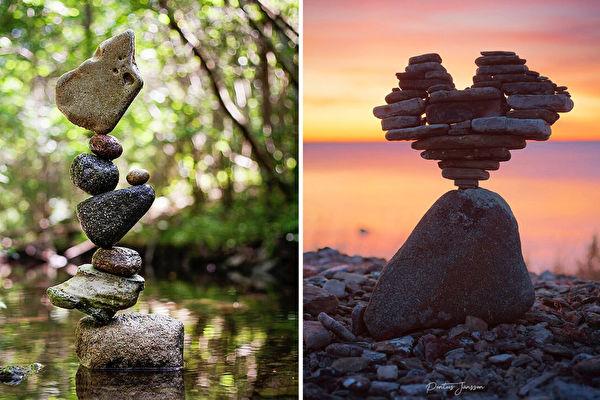 組圖:瑞典攝影師用高超平衡技巧玩疊石頭