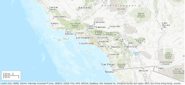 洛杉磯卡森市發生4.3級地震 尚無災情報告