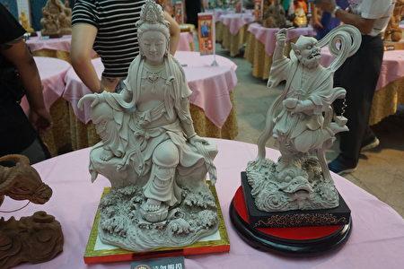 苏荣凌的泥塑作品。