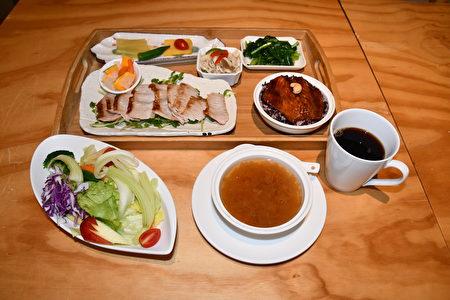 """餐厅主厨推荐""""松坂猪""""套餐,采用本土猪肉,Q弹多汁。"""