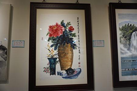 徐世峯的水墨作品「 富貴平安」。